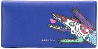 Paul Smith Karami Crocodile appliqué folded purse