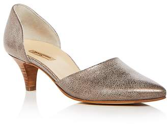 Paul Green Women's Julia Leather D'Orsay Kitten Heel Pumps