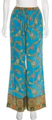 Marchesa Voyage High-Rise Silk Pants w/ Tags