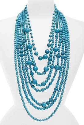 Natasha Accessories Big Bertha Beaded Multistrand Necklace