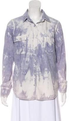 Rag & Bone Acid Wash Button-Up Top