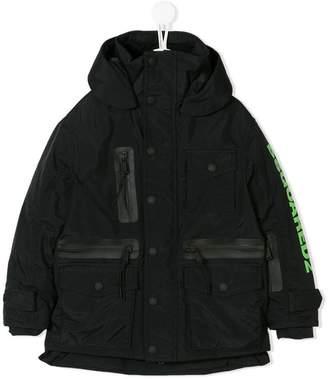 DSQUARED2 (ディースクエアード) - Dsquared2 Kids logo print parka coat