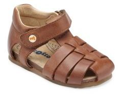 Naturino Baby's & Toddler's Falcotto Leather Fisherman Sandals $61 thestylecure.com