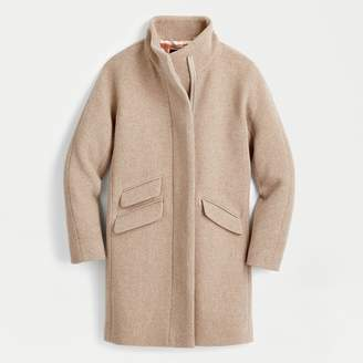 J.Crew Tall cocoon coat in Italian stadium-cloth wool