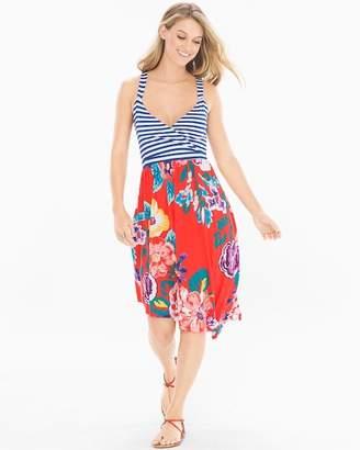 Soft Jersey Sleeveless Angled Hem Midi Dress