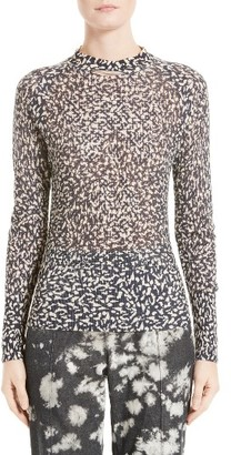 Women's Victor Alfaro Silk & Cashmere Animal Print Mesh Top $1,295 thestylecure.com