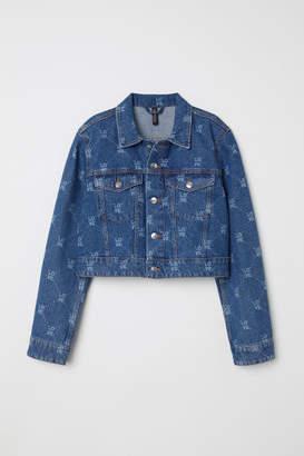 H&M Patterned Denim Jacket - Blue