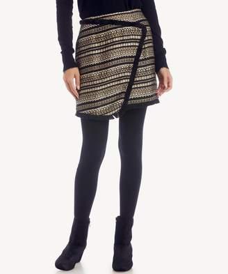 Sole Society Metallic Tweed Skirt