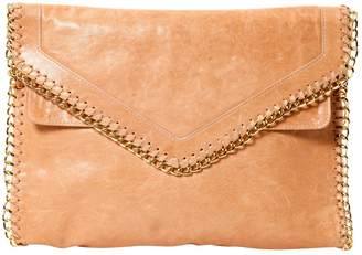 Be & D Beige Leather Clutch Bag