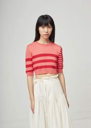 Molly Goddard Love Merino Striped Sweater Red/Pink