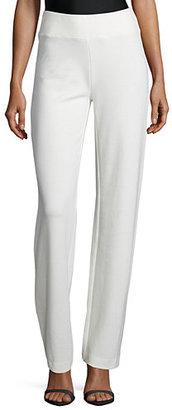 Joan Vass Ponte Boot-Leg Pants $188 thestylecure.com