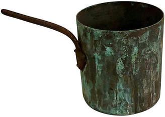One Kings Lane Vintage French Verdigris Copper Pot - Ballyhoo