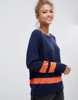 Blend She Slade strike through wool blend jumper
