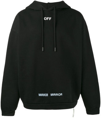 Off-White 'care of' print hoodie $573 thestylecure.com