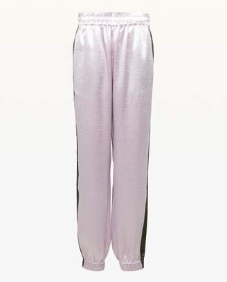 Juicy Couture JXJC Juicy Side Stripe Satin Track Pant