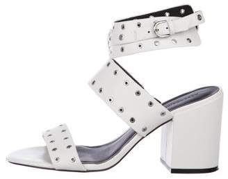 Rebecca Minkoff Leather Strap Peep-Toe Sandals