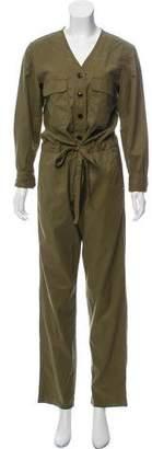 Rag & Bone Long Sleeve V-Neck Jumpsuit