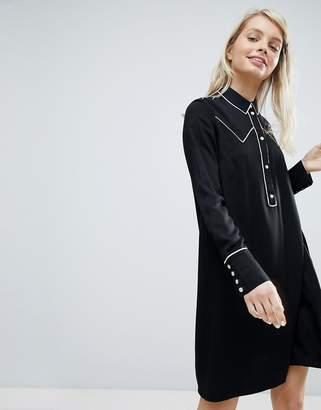 Monki Western Style Shirt Dress