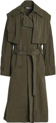 Vince Double-breasted Woven Trench Coat