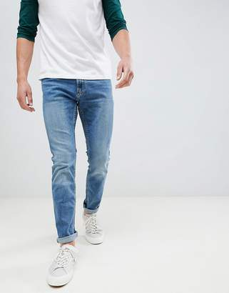 Hollister skinny stretch jeans in mid wash