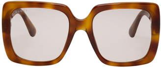 Gucci Tortoiseshell Feminine Chic Sunglasses