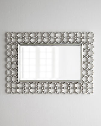 """Silver Chain-Link"" Mirror"