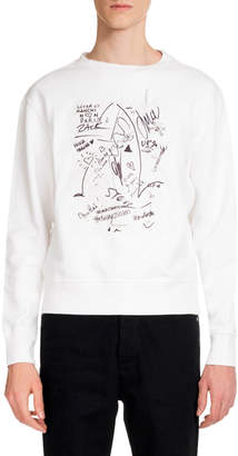 Maison Margiela Men's Scribbles Graphic Sweatshirt with Marker