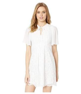 Kensie Spring Lace Short Sleeve A-Line Dress KS4K8363