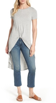 Women's Dex Knot Front High/low Tee $48 thestylecure.com