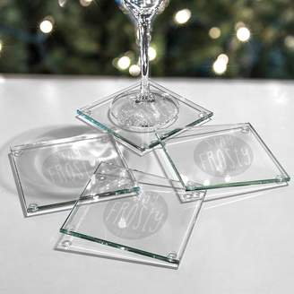 """Cathy's Concepts Cathys Concepts 4-pc. """"Stay Frosty My Friend"""" Glass Coaster Set"""