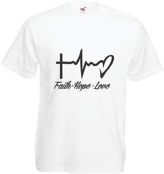lepni.me T shirts for men Faith - Hope - Love - 1 Corinthians 13:13, Christian Quotes and Proverbs, Religious Sayings