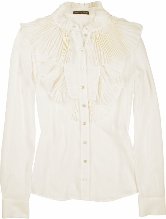 Alexander McQueen Georgian pleat ruffle blouse