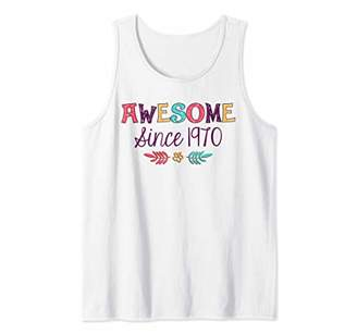 Awesome Since 1970 T-Shirt 49th Birthday Gift Shirt Tank Top