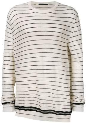 Haider Ackermann striped cashmere jumper