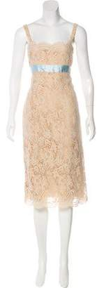 Oscar de la Renta Sleeveless Guipure Lace Dress