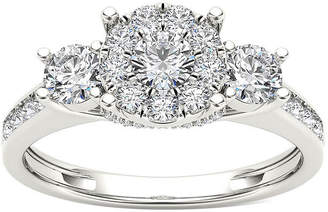 MODERN BRIDE 3/8 CT. T.W. Diamond Cluster Swirl Engagement Ring