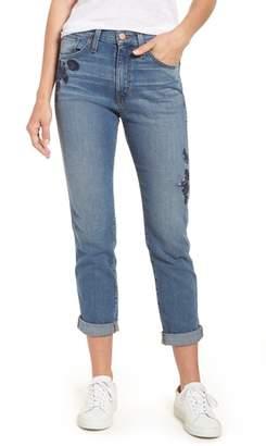 Caslon Arden Embroidered Boyfriend Jeans