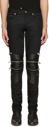 Saint Laurent Black Signature Low Waisted Skinny Motocross Jeans $1,490 thestylecure.com