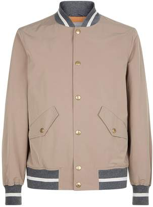 Brunello Cucinelli Contrast Band Bomber Jacket