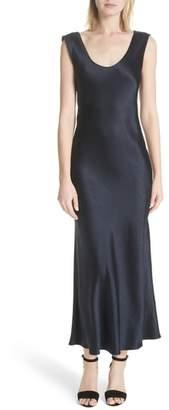 Theory Cowl Back Midi Dress