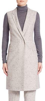 BOSS Karana Tweed Vest $545 thestylecure.com