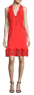 Jonathan Simkhai Lace Applique Drop-Waist Dress