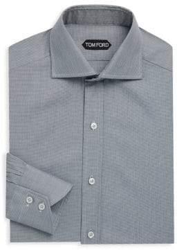 Tom Ford Mini Check Cotton Dress Shirt