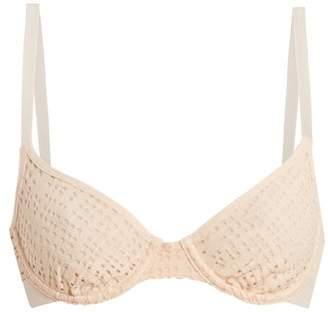 Negative Underwear - Essaouira Underwired Demi Cup Mesh Bra - Womens - Pink