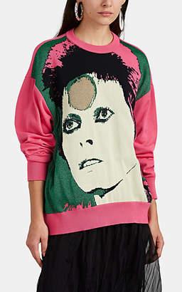 Undercover Women's Ziggy Stardust-Pattern Wool-Blend Sweater - Pink
