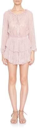 LoveShackFancy Popover Longsleeve Mini Dress