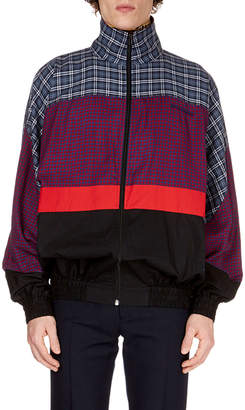Balenciaga Men's Patch-Pattern 80s Anorak Jacket