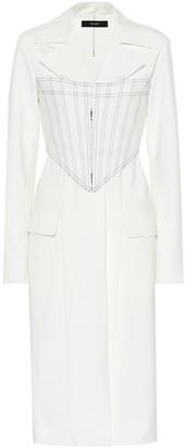 Ellery Visual Pun Corset stretch cotton coat