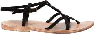 K. Jacques Black Suede Sandals