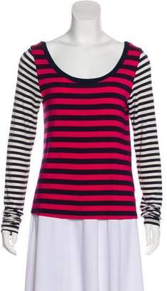 Elizabeth and James Long Sleeve Striped Top